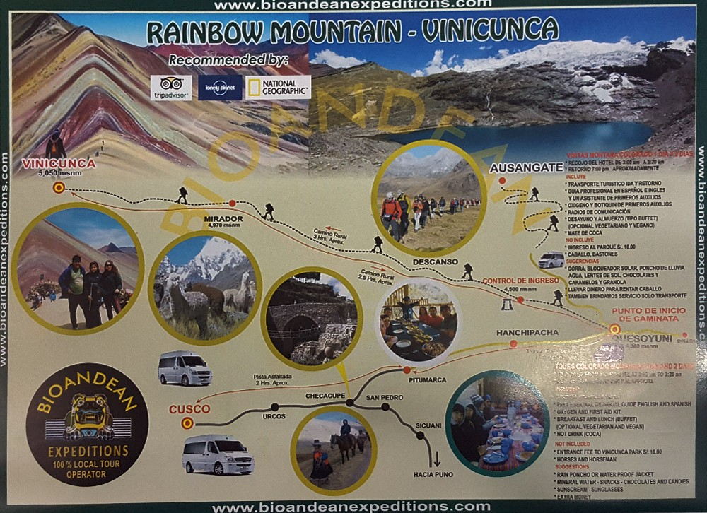 Rainbow Mountain Map