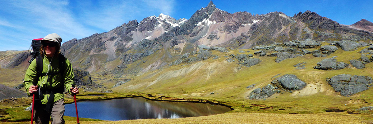 Lake at the Rainbow Mountain Peru Trek